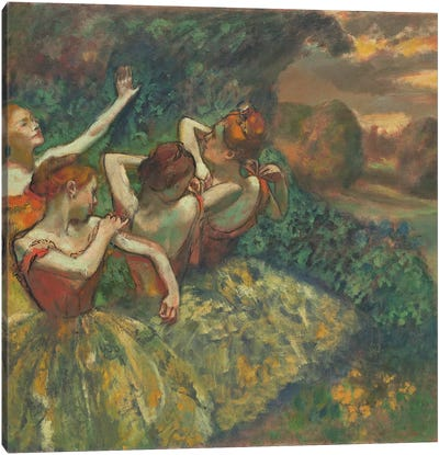 Four Dancers, c.1899  Canvas Art Print