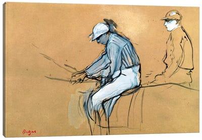 Jockeys  Canvas Art Print