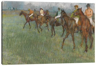 Jockeys in the Rain, c.1886  Canvas Art Print