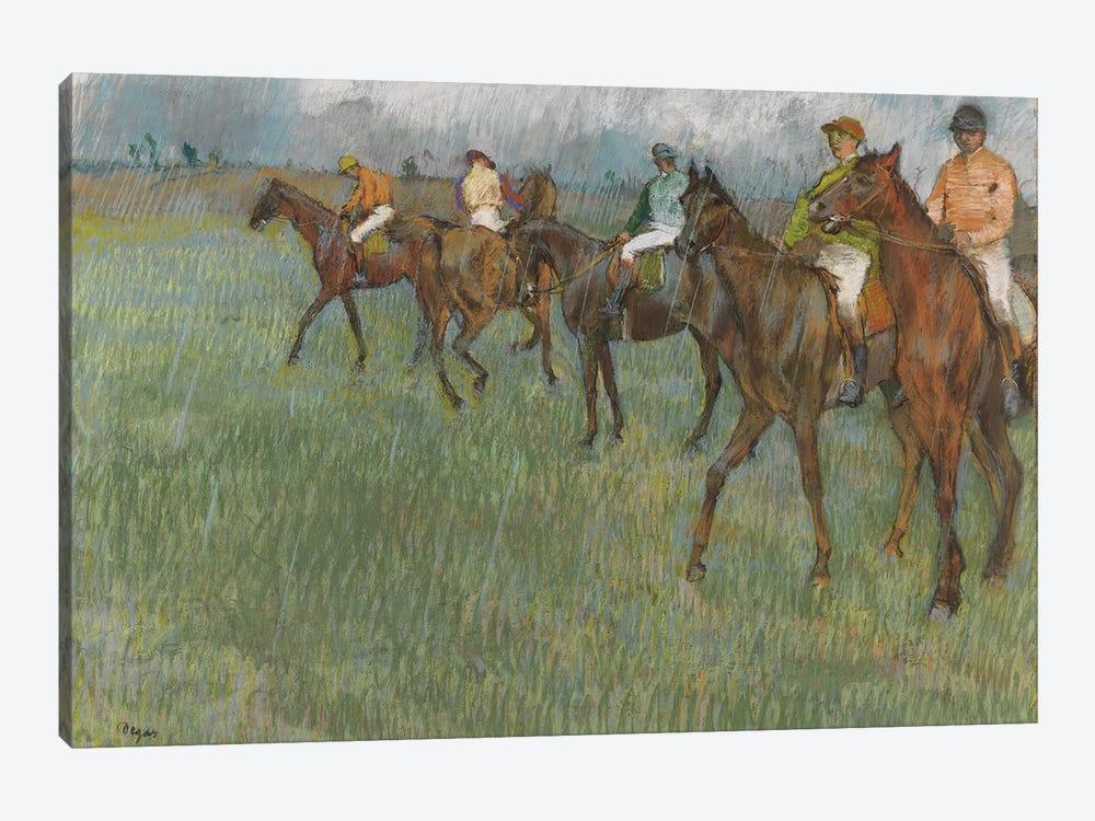 Jockeys in the Rain, c.1886  by Edgar Degas 1-piece Canvas Art Print