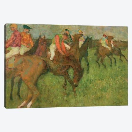 Jockeys, 1886-90 Canvas Print #EDG40} by Edgar Degas Canvas Art Print