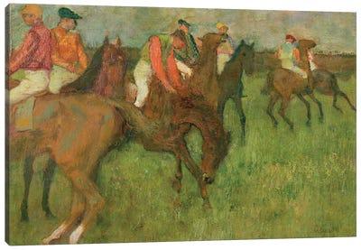 Jockeys, 1886-90 Canvas Art Print