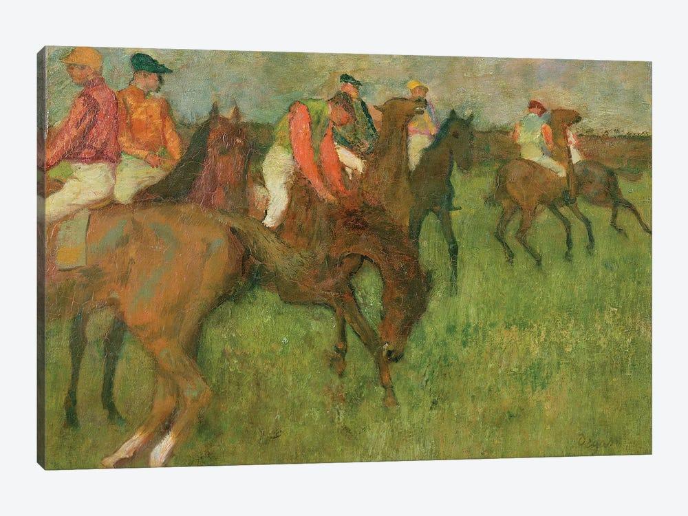 Jockeys, 1886-90 by Edgar Degas 1-piece Canvas Art Print