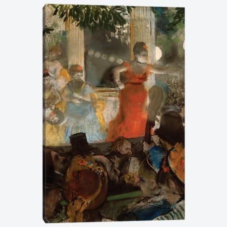 Le cafe concert, à ambassadeurs, 1876 Canvas Print #EDG43} by Edgar Degas Art Print