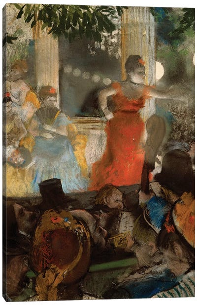 Le cafe concert, à ambassadeurs, 1876 Canvas Art Print