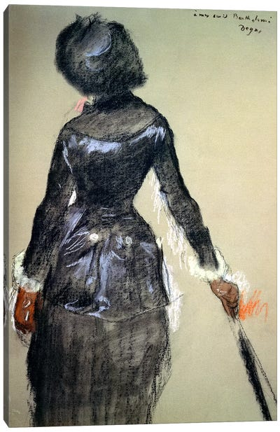 Mary Cassatt at the Louvre  Canvas Art Print