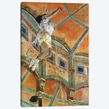Miss La la at the Cirque Fernando, 1879  Canvas Print #EDG50} by Edgar Degas Canvas Art