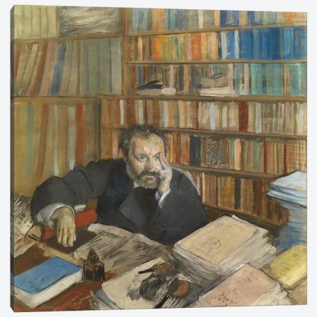 Portrait of Edmond Duranty, 1879  Canvas Print #EDG52} by Edgar Degas Canvas Wall Art