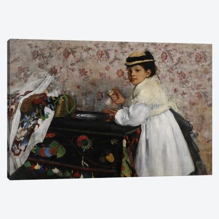 Portrait of Mlle. Hortense Valpinçon, c.1871  Canvas Print #EDG53} by Edgar Degas Canvas Wall Art