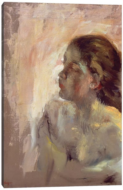 Study of a Girl's Head, late 1870s  Canvas Art Print