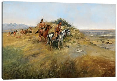 Buffalo Hunt, 1891 Canvas Art Print