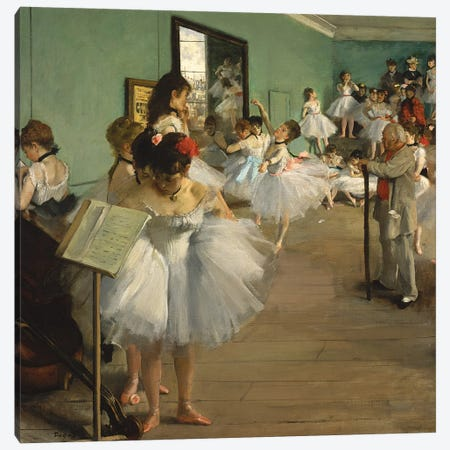 The Dance Class, 1873-74  Canvas Print #EDG62} by Edgar Degas Canvas Art Print