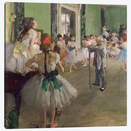 The Dancing Class, c.1873-76  Canvas Print #EDG64} by Edgar Degas Canvas Art