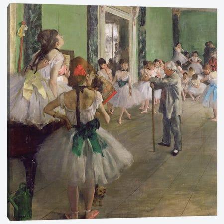 The Dancing Class, c.1873-76  Canvas Print #EDG64} by Edgar Degas Canvas Art