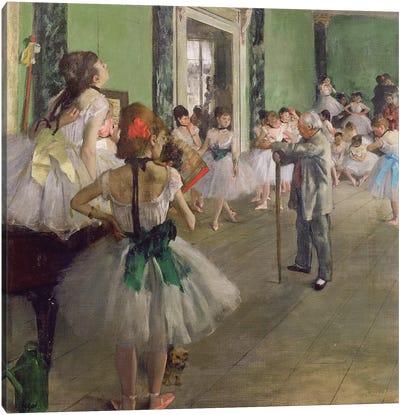 The Dancing Class, c.1873-76  Canvas Art Print