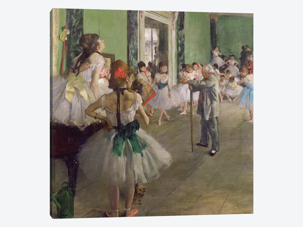 The Dancing Class, c.1873-76  by Edgar Degas 1-piece Canvas Art Print