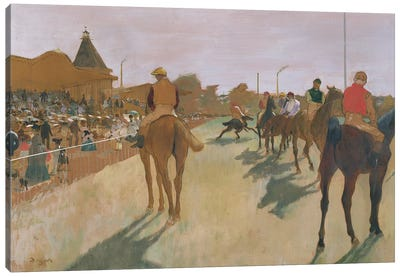The Parade, or Race Horses in front of the Stands, c.1866-68  Canvas Art Print