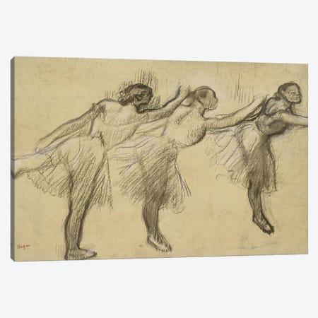 Three Studies of a Ballerina  Canvas Print #EDG70} by Edgar Degas Canvas Artwork