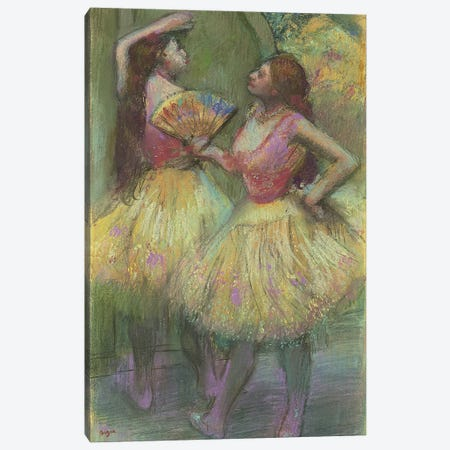 Two Dancers Before Going on Stage, 1888  Canvas Print #EDG71} by Edgar Degas Canvas Artwork
