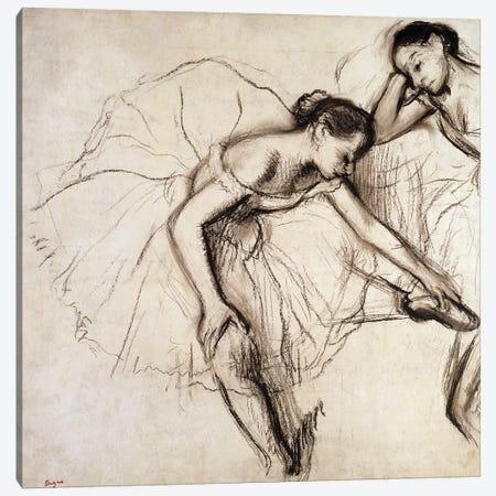 Two Dancers Resting  Canvas Print #EDG72} by Edgar Degas Canvas Wall Art