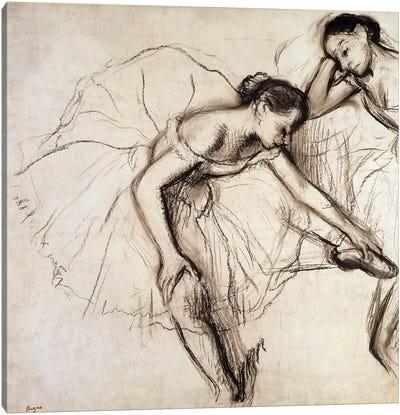 Two Dancers Resting  Canvas Art Print