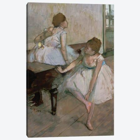 Two dancers resting, 1874  Canvas Print #EDG73} by Edgar Degas Canvas Wall Art