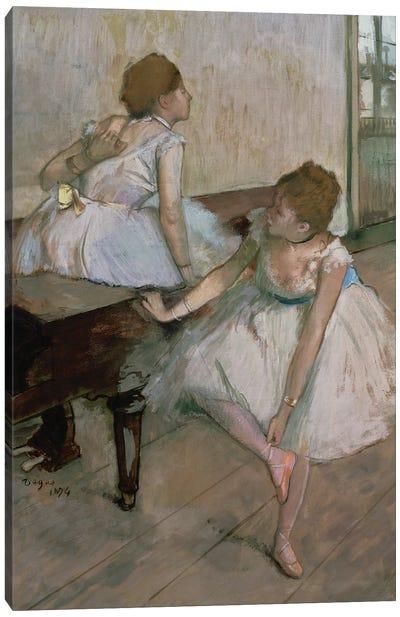 Two dancers resting, 1874  Canvas Art Print
