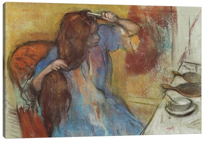 Woman at her Toilet; Femme a sa Toilette, c.1889  Canvas Art Print