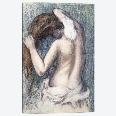 Woman Drying Herself, c.1906  Canvas Print #EDG76} by Edgar Degas Art Print