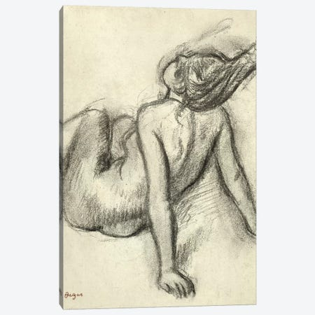 Woman having her hair styled  Canvas Print #EDG77} by Edgar Degas Art Print