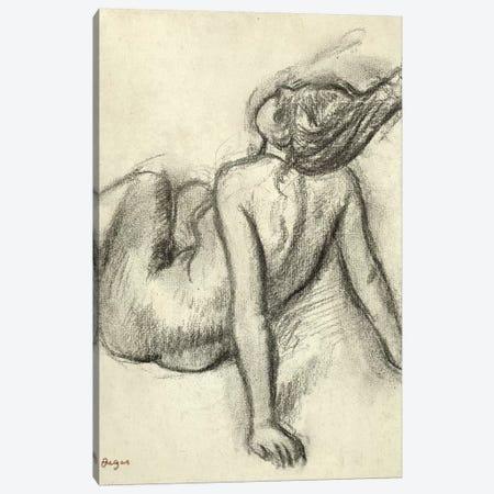 Woman having her hair styled  Canvas Print #EDG77} by Edgar Degas Art Print