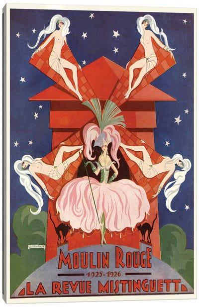 Moulin Rouge La Revue Mistinguett Advertisement, 1926 Canvas Art Print