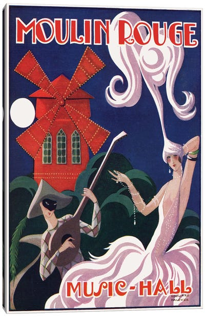 Moulin Rouge Music-Hall Advertisement, 1920s Canvas Art Print