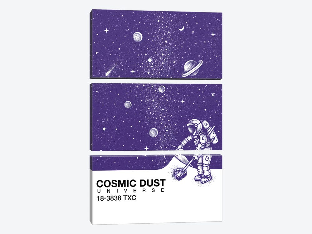 Cosmic Dust by Enkel Dika 3-piece Canvas Art Print