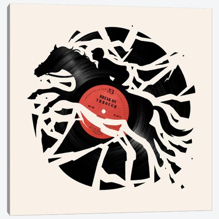 Disc Jockey Red Canvas Print #EDI11} by Enkel Dika Canvas Artwork