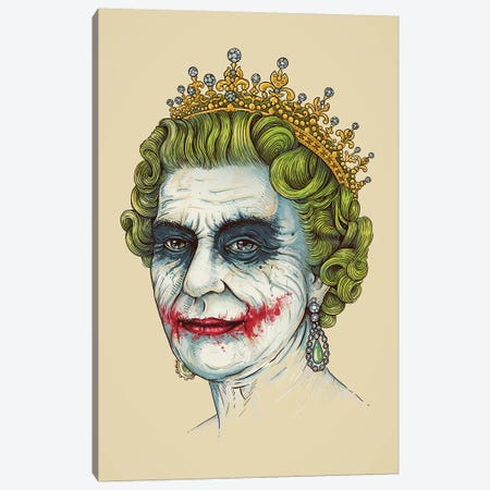 God Save The Villain Canvas Print #EDI16} by Enkel Dika Art Print
