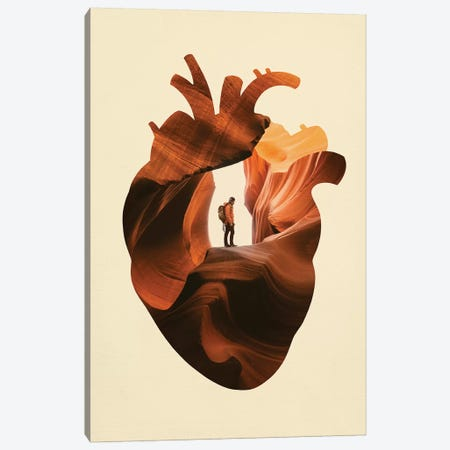 Heart Explorer Canvas Print #EDI17} by Enkel Dika Art Print