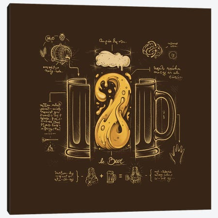 Le Beer (Elixir Of Life) Canvas Print #EDI26} by Enkel Dika Canvas Art