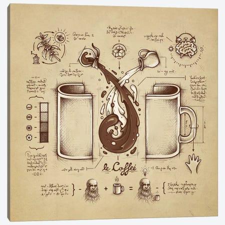 Le Coffee (Fluid Of Creativity) Canvas Print #EDI27} by Enkel Dika Canvas Artwork