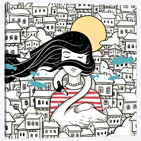 Longing (This Is Not Finished Yet) Canvas Print #EDI28} by Enkel Dika Art Print