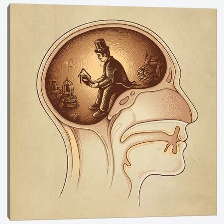 Mind Reader Canvas Print #EDI32} by Enkel Dika Canvas Artwork