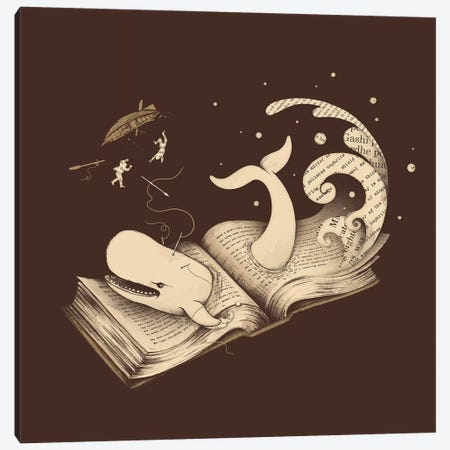 Moby Canvas Print #EDI35} by Enkel Dika Art Print