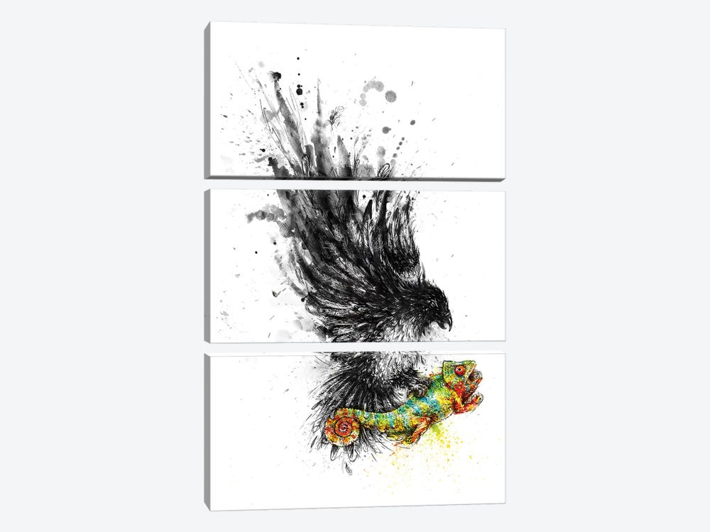 Monotony Strikes Back by Enkel Dika 3-piece Canvas Art Print
