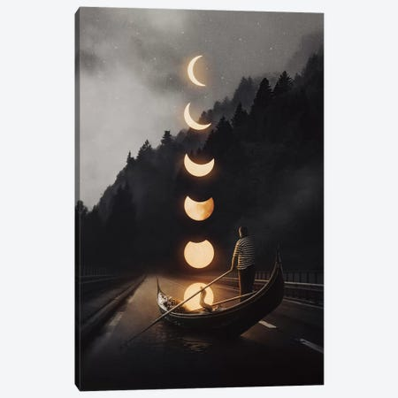Moon Ride 24 Canvas Print #EDI39} by Enkel Dika Canvas Art