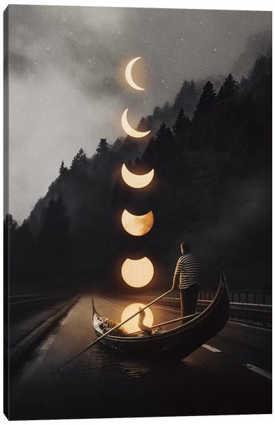 Moon Ride 24 Canvas Art Print