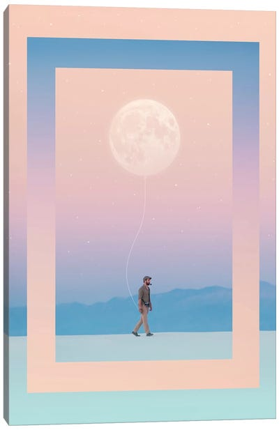Moon Walker Canvas Art Print