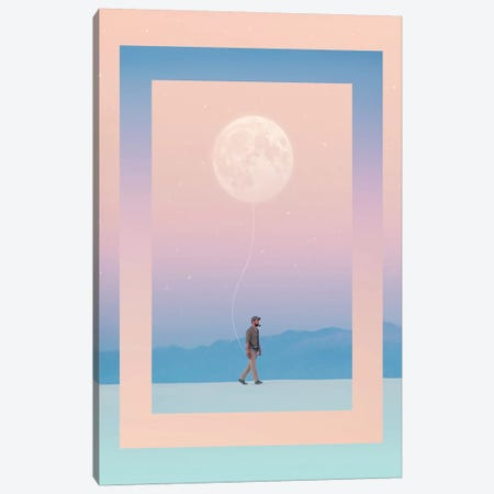 Moon Walker Canvas Print #EDI40} by Enkel Dika Canvas Art Print