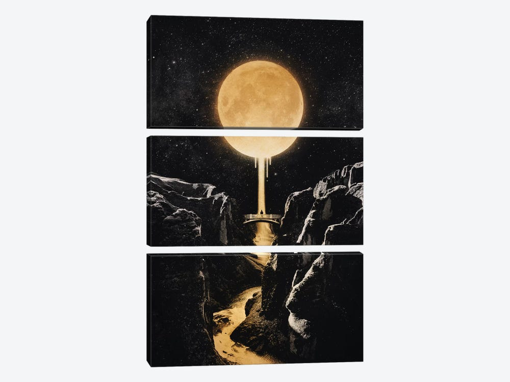 Moonlit by Enkel Dika 3-piece Canvas Print