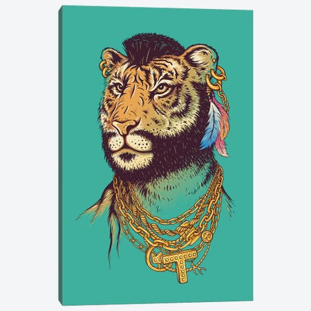 Mr T (Iger) Canvas Print #EDI42} by Enkel Dika Art Print