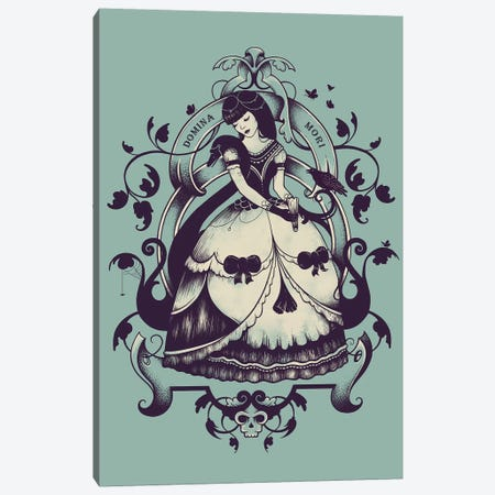 Mrs Death Canvas Print #EDI43} by Enkel Dika Art Print